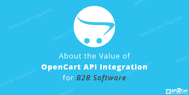 About the Value of OpenCart API Integration for B2B Software