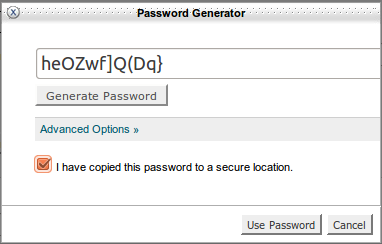 cPannel password generator