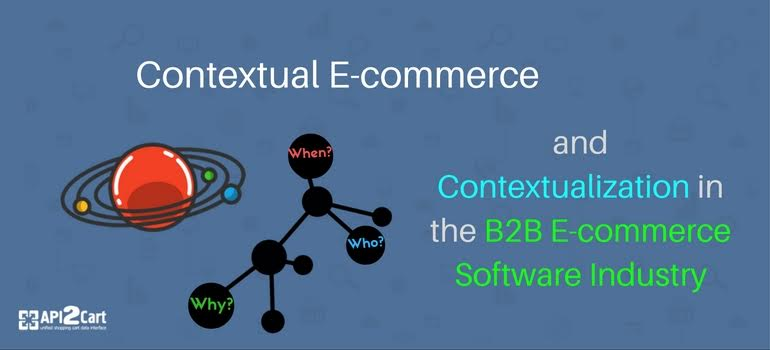 Contextual E-commerce and Contextualization in the B2B E-commerce Software Industry